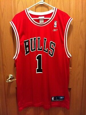 8984abcf434 VTG Rare NBA Chicago Bulls JAMAL CRAWFORD  1 Adult Large Jersey Print Korea