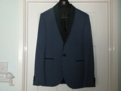 Mens/Boys NEXT Blue 2 Piece Suit.  Prom Wedding. Skinny Fit.  Short.  VGC
