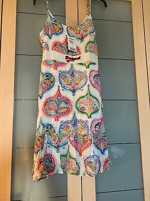 Desigual Cream Sun Dress Size 12 BNWT