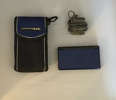 Nintendo DS Lite Cobalt Blue and Black System (with Switch & Carry Case)