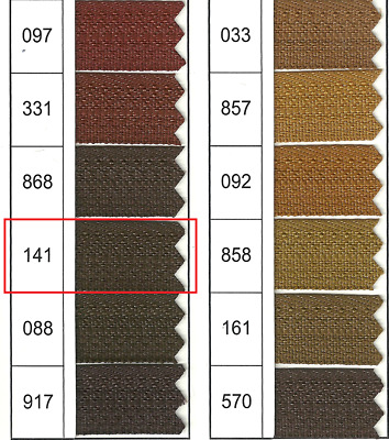 Full Continuous Roll of size 3 Brown (141) Nylon Zip with Lots of sliders
