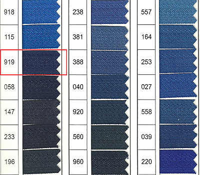 Full Continuous Roll of size 3 Navy Blue (919) Nylon Zip with Lots of sliders