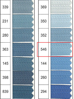 Full Continuous Roll of size 3 Sky Blue (546) Nylon Zip with Lots of sliders