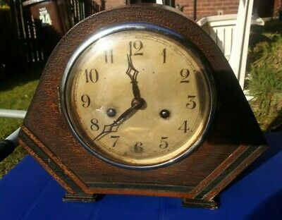 Art Deco 8 Day Mantle Clock with Strike - FWO - Strong Tick, lovely Strike