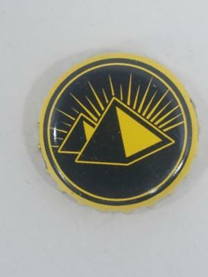 3b0a4a94610 Yellow Black Pyramid Brewing Company Beer Bottle Cap Crown Brewery