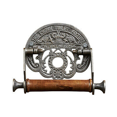 Ironmongery The Crown Toilet Paper Holder - Cast Iron Bathroom Wall Fixture