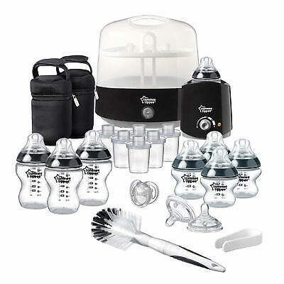 Tommee Tippee Complete Feeding Set Baby Bottle Steam Steriliser Warmer Black