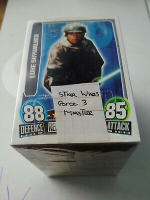 Star Wars Edt 3 Force Attax The Saga Movies 240 Trading Card Set & Binder Topps