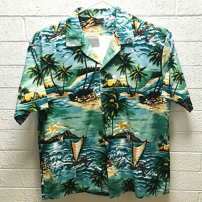 70e638fb Vintage ALOHA REPUBLIC XXL 2XL Mens HAWAIIAN Bahama Panama Shirt Made in  Hawaii