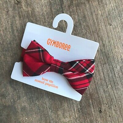 fc44115f6809 Baby Toddler Boys Gymboree Very Merry Plaid Bow Tie Red Black White 0-24 mo