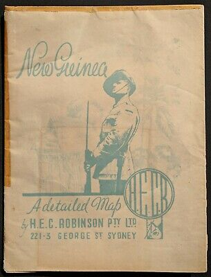 New Guinea & Papua WWII League of Nations Australian Army Map