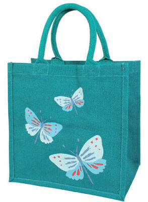 Shared Earth SAVE OUR BEES Large 43x32cm Fair Trade Jute Yellow Shopping Bag