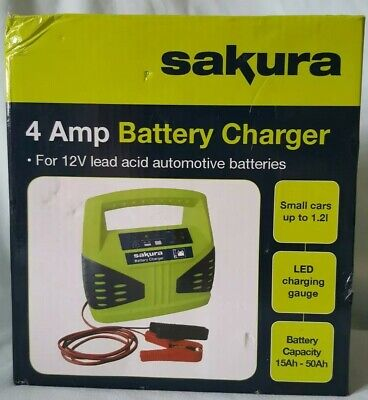 Sakura 4 Amp Battery Charger Small Cars Up To 1.2L