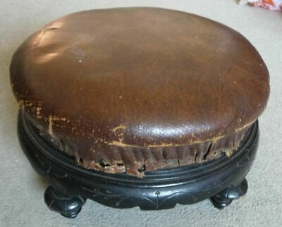 Victorian Footstool For Renovation - See 8 Pics