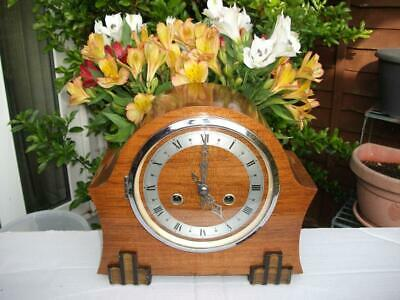 SUPERB ENFIELD (SMITHS) 8 DAY STRIKING MANTEL CLOCK c1942-47. FULLY OVERHAULED.
