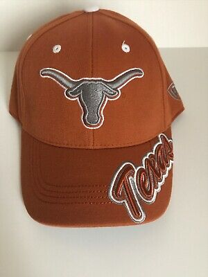 03f95653f0c04 University of Texas Longhorns TOW Top Of The World One Fit Orange Cap Hat