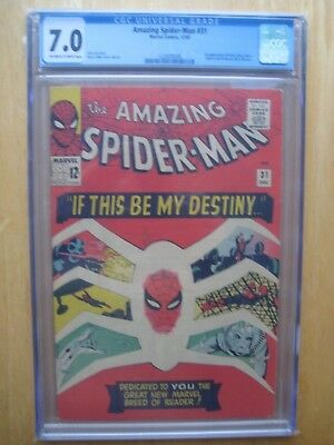 Marvel comics Amazing spiderman #31  CBCS / CGC 7.0 1st Appearance Gwen Stacy