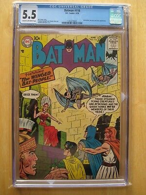 Batman #116 1958 - Cgc 5.5 RARE !! winged bat people DC comics