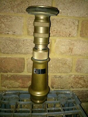 """Vintage Firefighting Solid Brass Firefighting Hose Nozzle """"Brand New"""" Rare!!"""