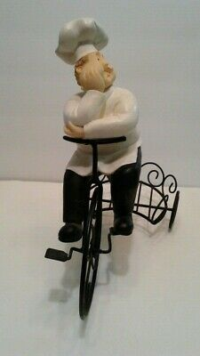 French Chef on a Bicycle with Holder