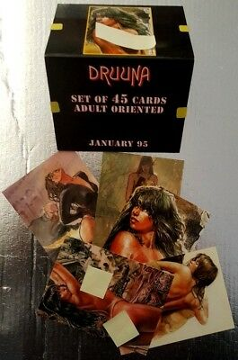 Serpieri - DRUUNA - Promo card collector LOT OF 3 - 1995 EROTIC ADULT 2 MANARA