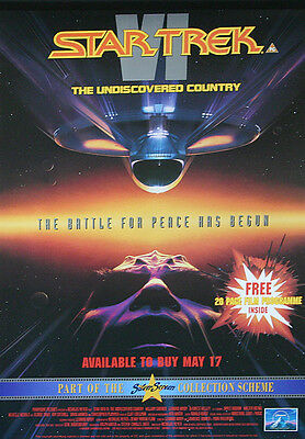 Star Trek Undiscovered Country Vintage VHS IN-Store Promotional Poster