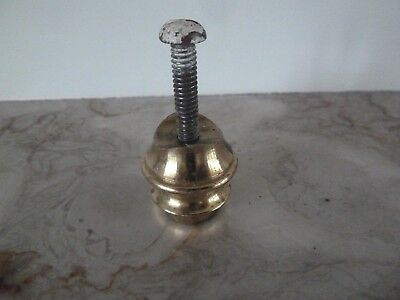 A Genuine Antique Solid Turned Brass Rod End for a  Brass Bed