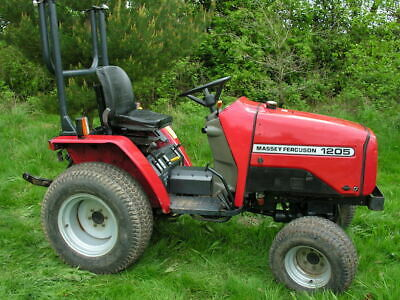 Massey ferguson Compact tractor. On grass tyres.