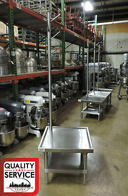 """Commercial 24"""" x 24"""" Mixer Table with Attachment Pole"""