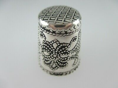 Fingerhut 925 Sterling Silber filigran Handarbeit silver modernist No