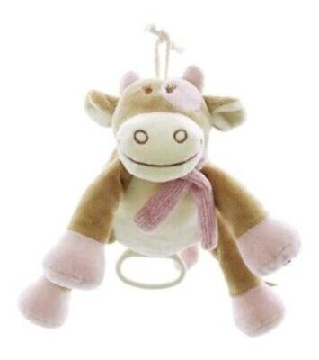 Noukies Lola The Cow Musical Mobile Toy Plush Comforter Doudou Cot. FAST POSTAGE