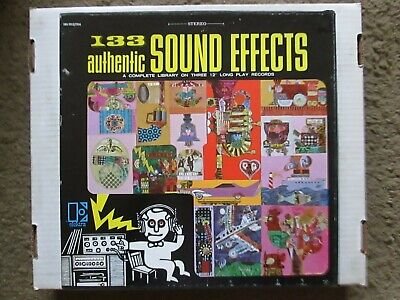 Elektra Records 3-album box set of 133 sound effects for radio or home recording