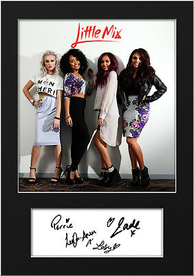 LITTLE MIX #6 Signed Photo Print A5 Mounted Photo Print - FREE DELIVERY