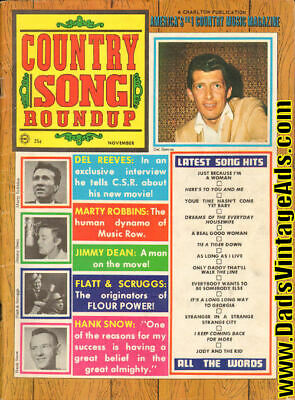 1968 November Country Song Roundup Magazine Back-Issue
