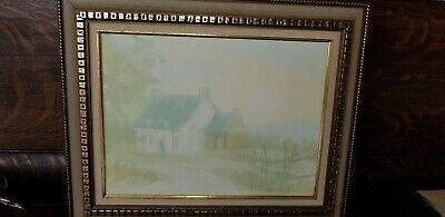 Vintage Canadian Painting Signed Painting Framed Gilles Gingras