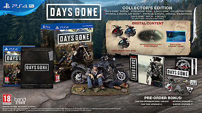 Days Gone Collectors Edition PS4 Steelbook Statue Game Artbook DG - NEW