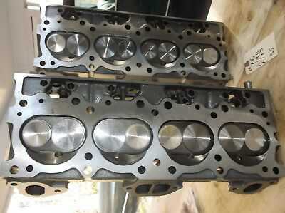 PONTIAC 6X-8 CYLINDER Heads Matched Pair Fresh Rebuild 326 350 389
