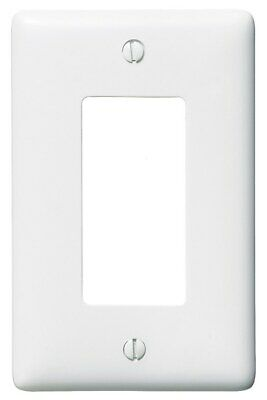 Hubbell NP26W Decorator Face Plate, 1 Gang, White