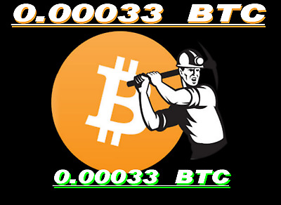Bitcoin Mining Contract 0.00033 BTC 6-Hours Guaranteed, Bitmain S9 24TH/s