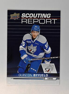 2018-19 18-19 UD Upper Deck CHL Scouting Report #SR-2 Quinton Byfield