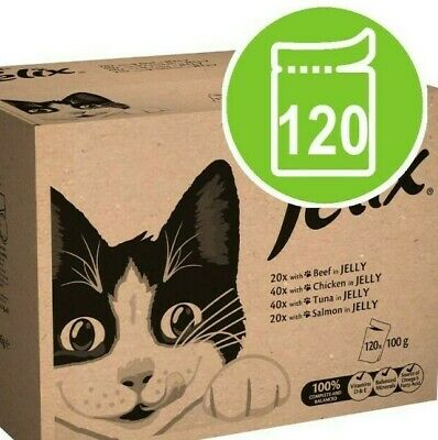Wet Cat Food Felix As Good As It Looks Mixed Jelly Adult 80 0r 120 pouches 100g