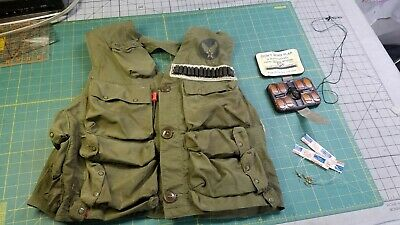 WWII US Army Air Force Survival Emergency Sustenance Vest Type C-1 Pilot Content