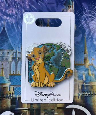 Disney Park 2019 Earth Day Lion King Simba Pin LE 2500 Limited Edition Cat April