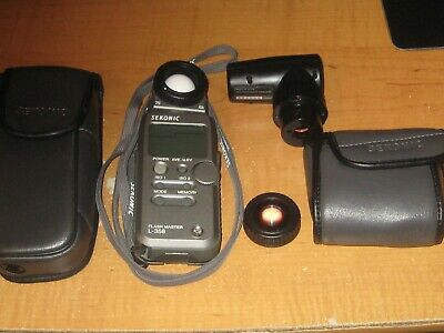 Sekonic L-358 Flash Master Light Meter With Sekonic NP 5 View Finder