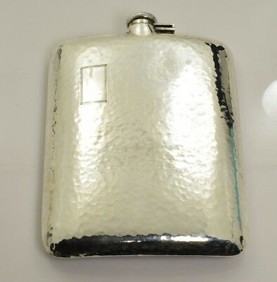 Antique Sterling Silver Hip Flask Clarence A Vanderbilt 7/8pt 294.2 grams