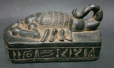ANCIENT EGYPTIAN ANTIQUES Scorpion Selket Serket Sculpture Hand Carved Stone BC