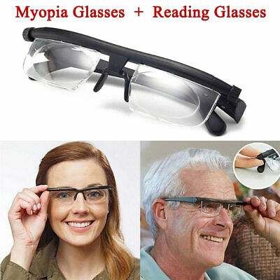 Dial Adjustable Glasses Variable Focus Vision Distance Reading Driving Eyeglass