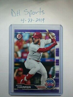2019 Bowman Bryce Harper Ssp Purple Paper 197/250 Philadelphia Phillies