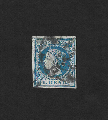 Spain  Stamp   1860  Queen Isabella   1 Real  Used
