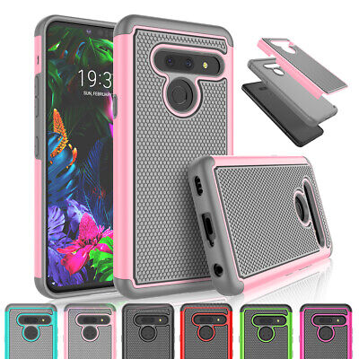 For LG G8 ThinQ /LG G8 Case Hybrid Dual Layer Protective Rubber Matte Hard Cover